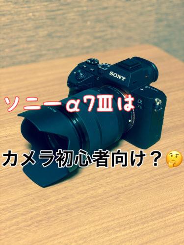 『α7Ⅲ』SONYのミラーレス一眼を買ってみた!スマホ写真とはやっぱり違う??🤔